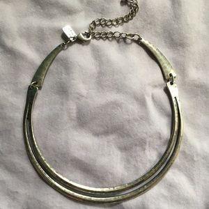 AE Silver Choker Necklace